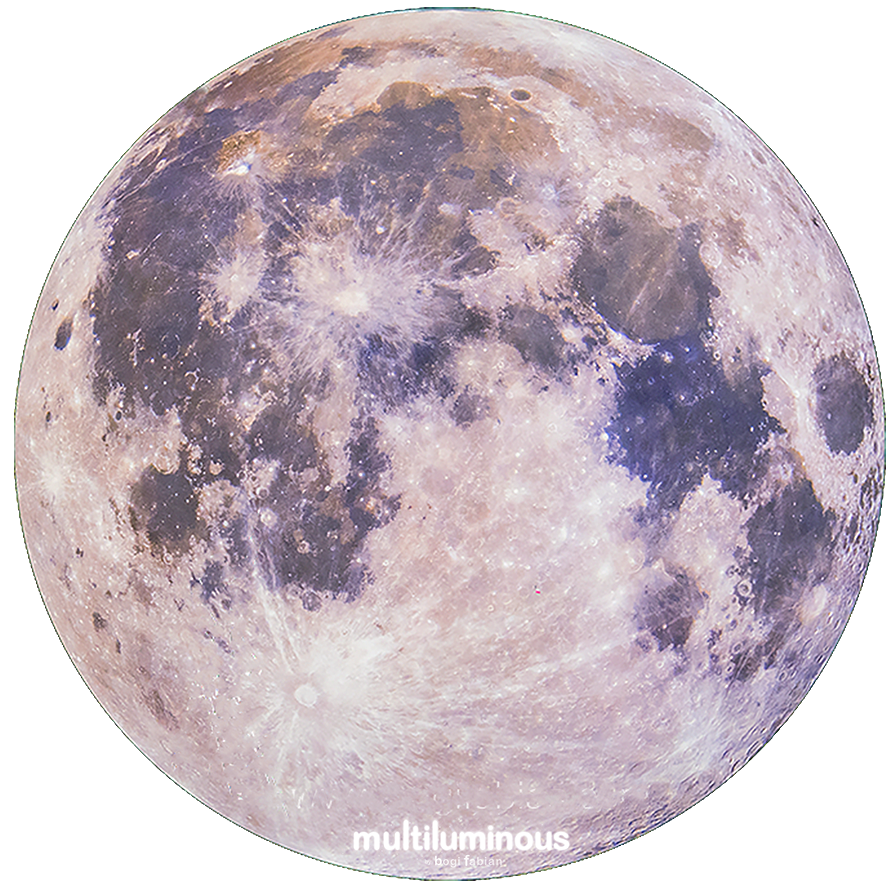 bogi fabian multiluminous print glowing universe MOON