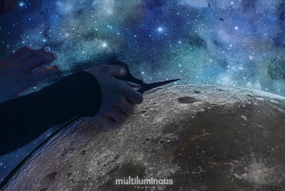 MOON MULTILUMINOUS 3-in-1 Glow In The Dark Art Prints by Bogi Fabian