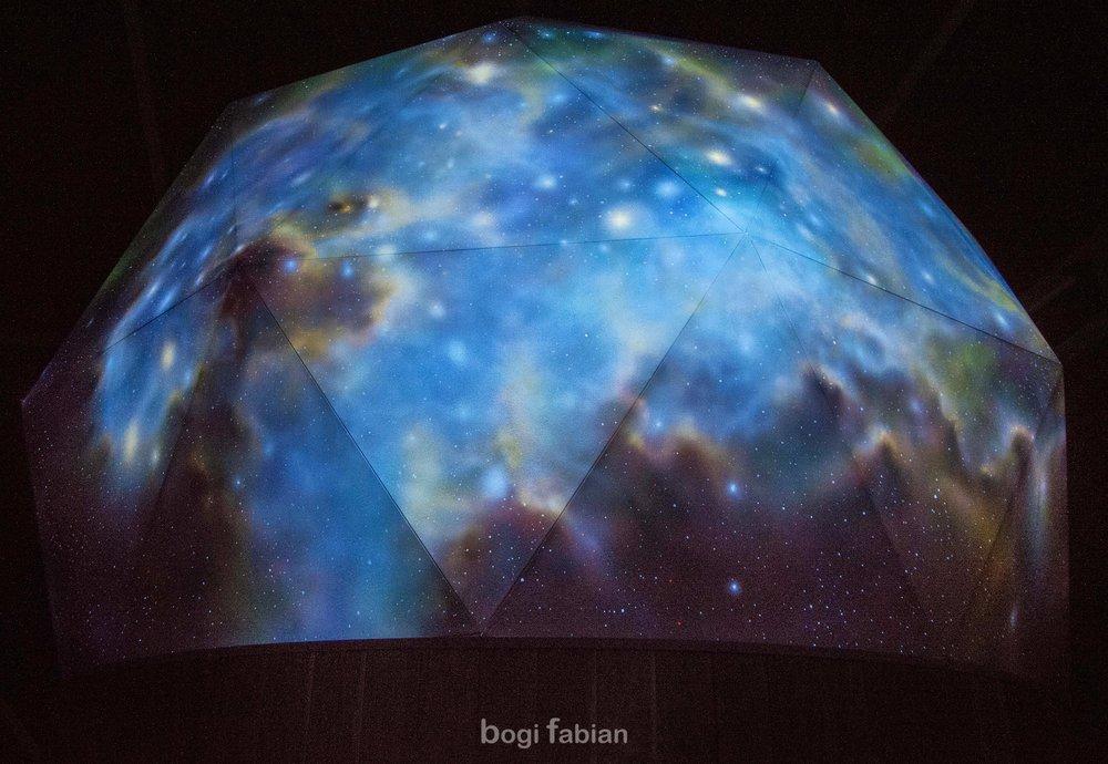 glow in the dark mural art print bogi fabian multiluminous ultraviolet universe moon galaxy svalbard