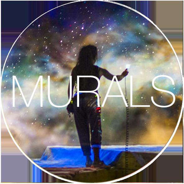 Bogi Fabian INVISIBLE MURAL ART UNIVERSE GLOWNTHEDARK