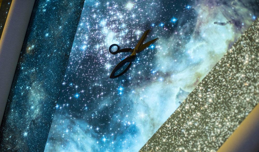 Bogi Fabian Glow in the dark Print Hubble Telescope Nasa esa Universe galaxy print Multiluminous