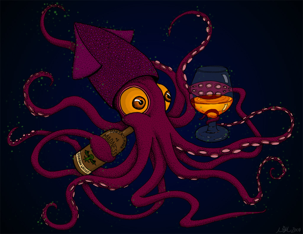 Bourbon Drinking Squid