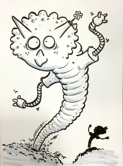 Cyborg Worm Triceratops