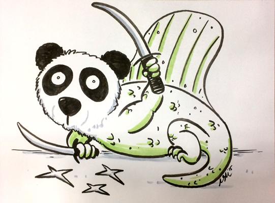 Ninja Panda Dimetrodon