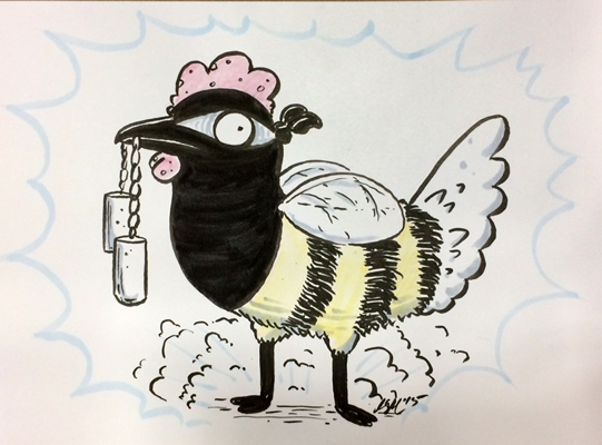 Ninja Chicken Bee