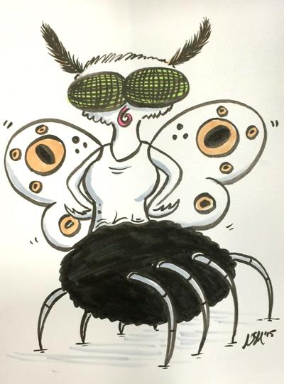 Mer-Moth Spider
