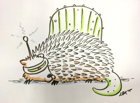 Cyborg Hedgehog Dimetrodon