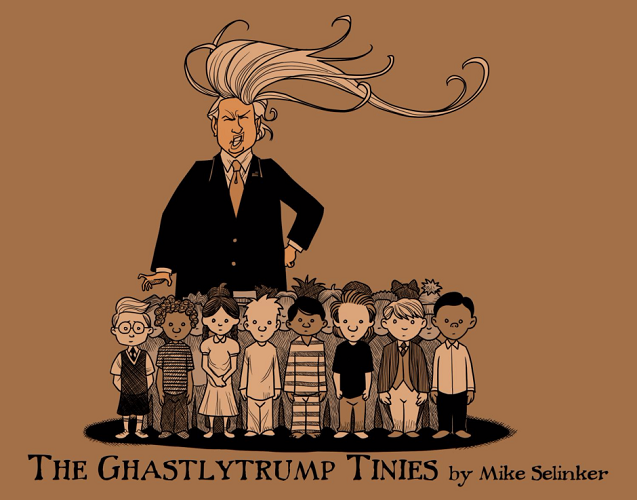 "Ghastlytrump Tiny ""L"" illustrated by me! Available here."