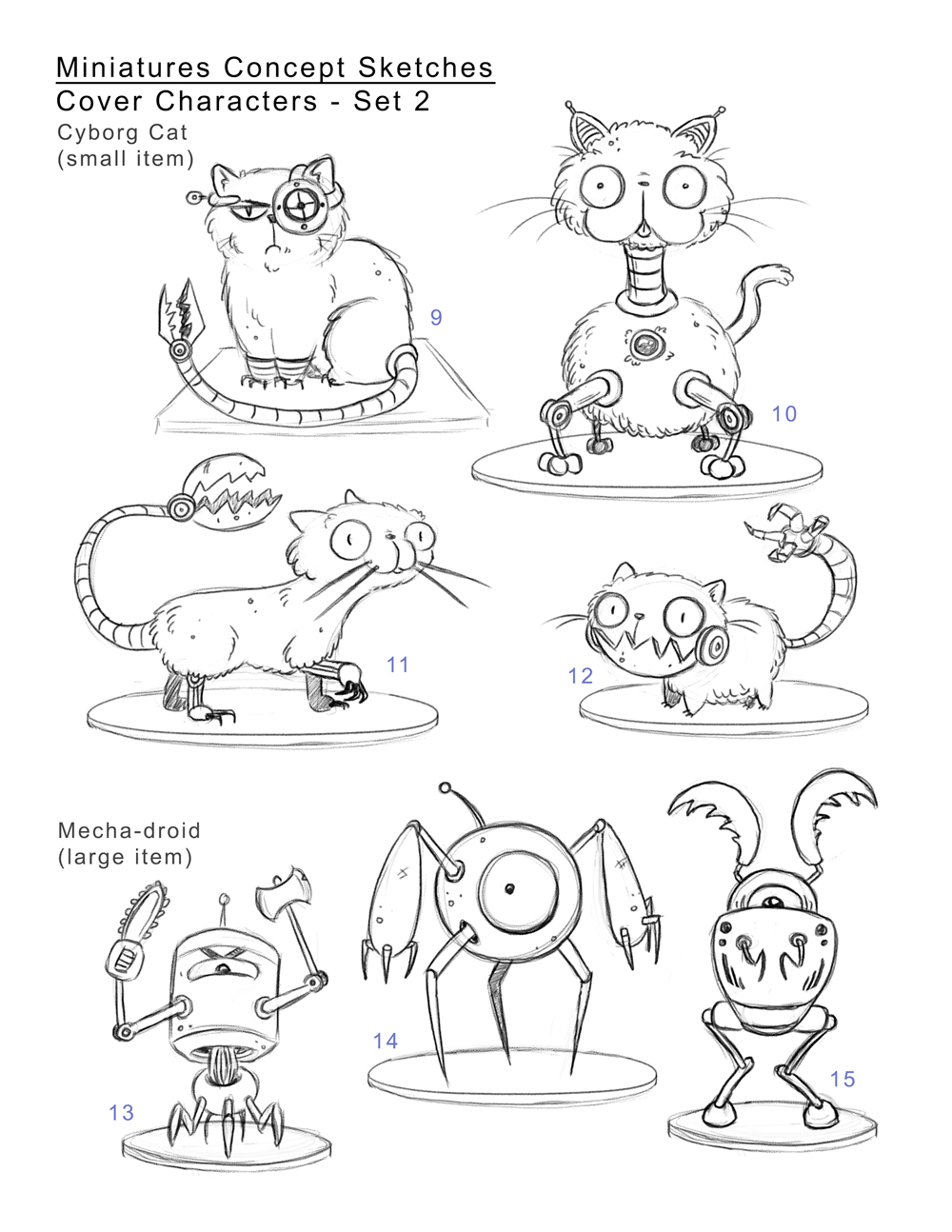 Character concepts for Miniatures book cover
