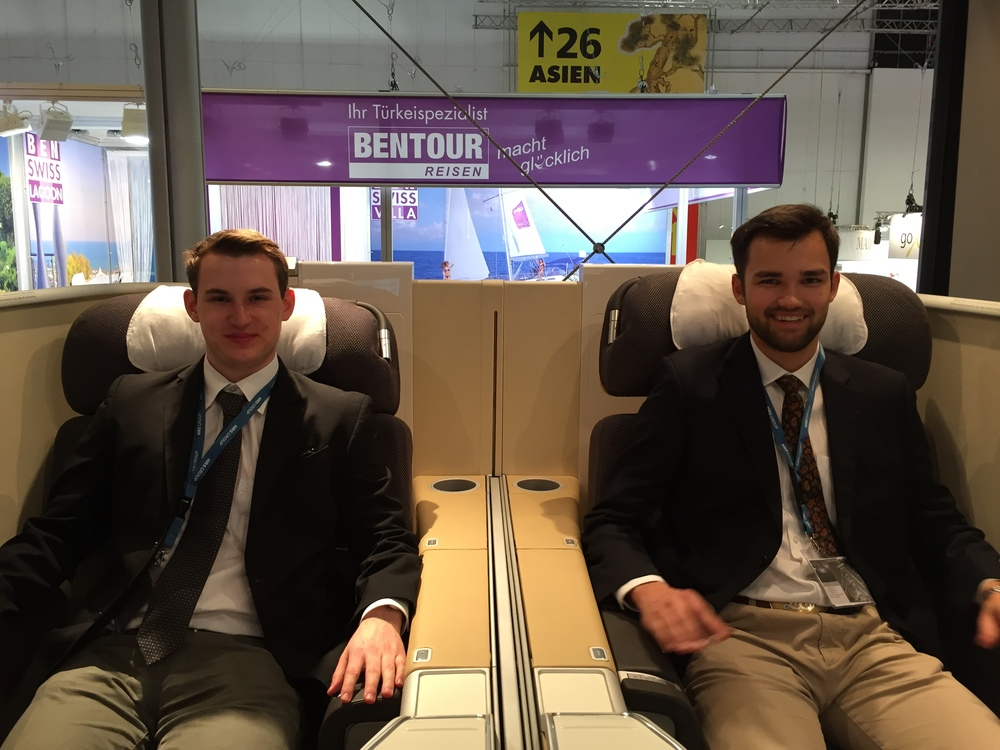 Being guest in the Lufthansa First Class at ITB Berlin