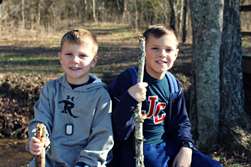 boys hike frontal