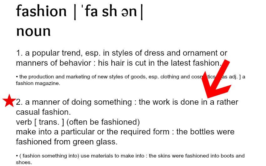 fashion define