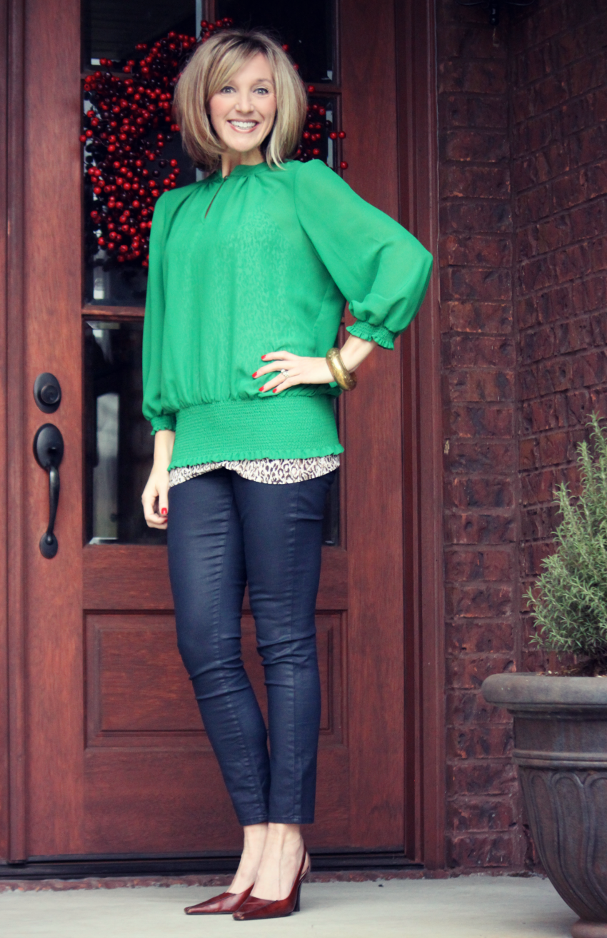 green blouse 1