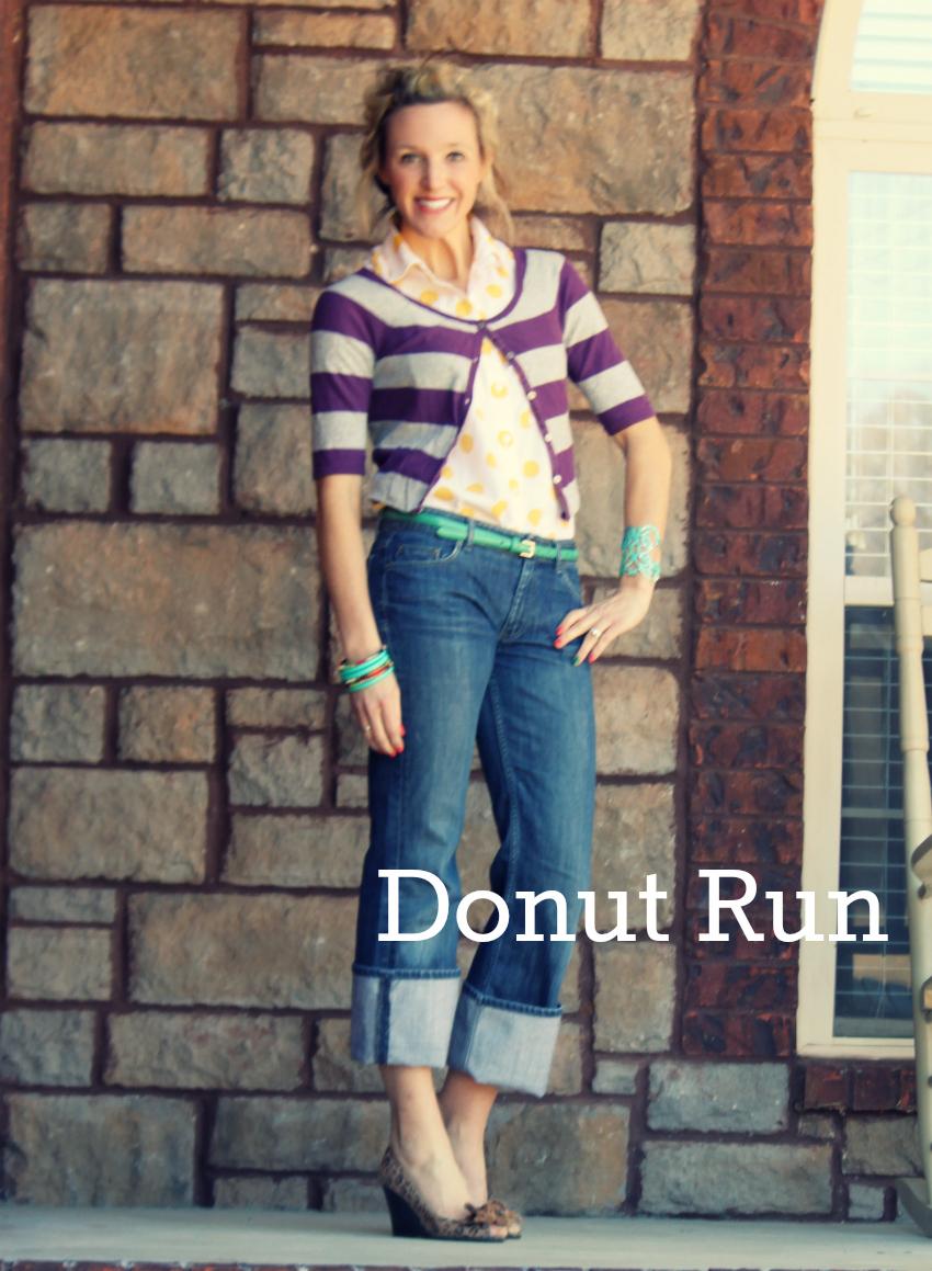 purple stripes-donut run