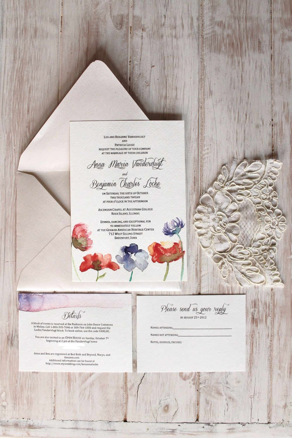 DIY watercolor wedding invitations — Anna Maria Locke