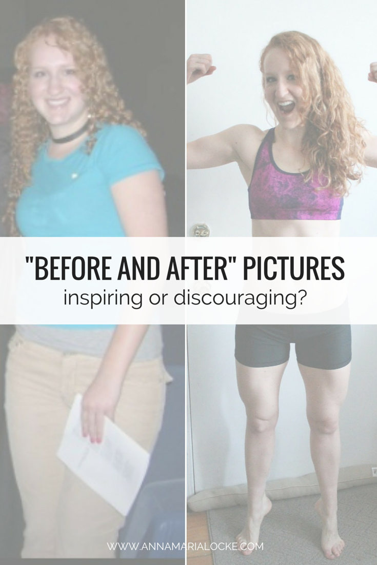 Are before and after pictures inspiring or discouraging