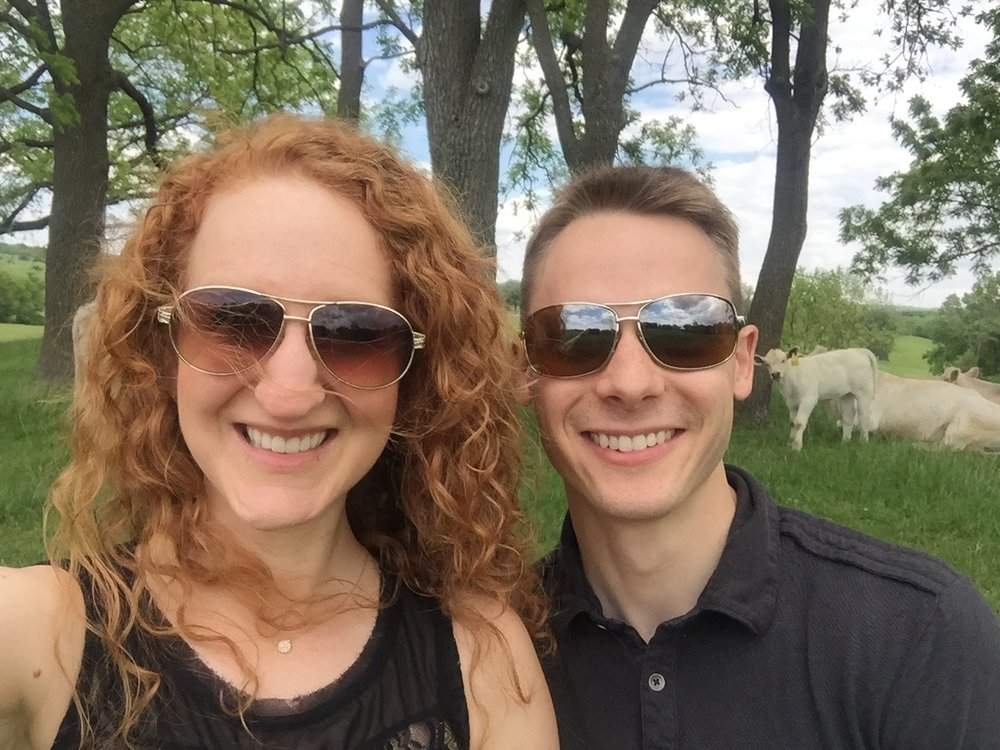 Oh, don't mind us. We're just the cliche city folk who are gonna take a selfie with your cows...