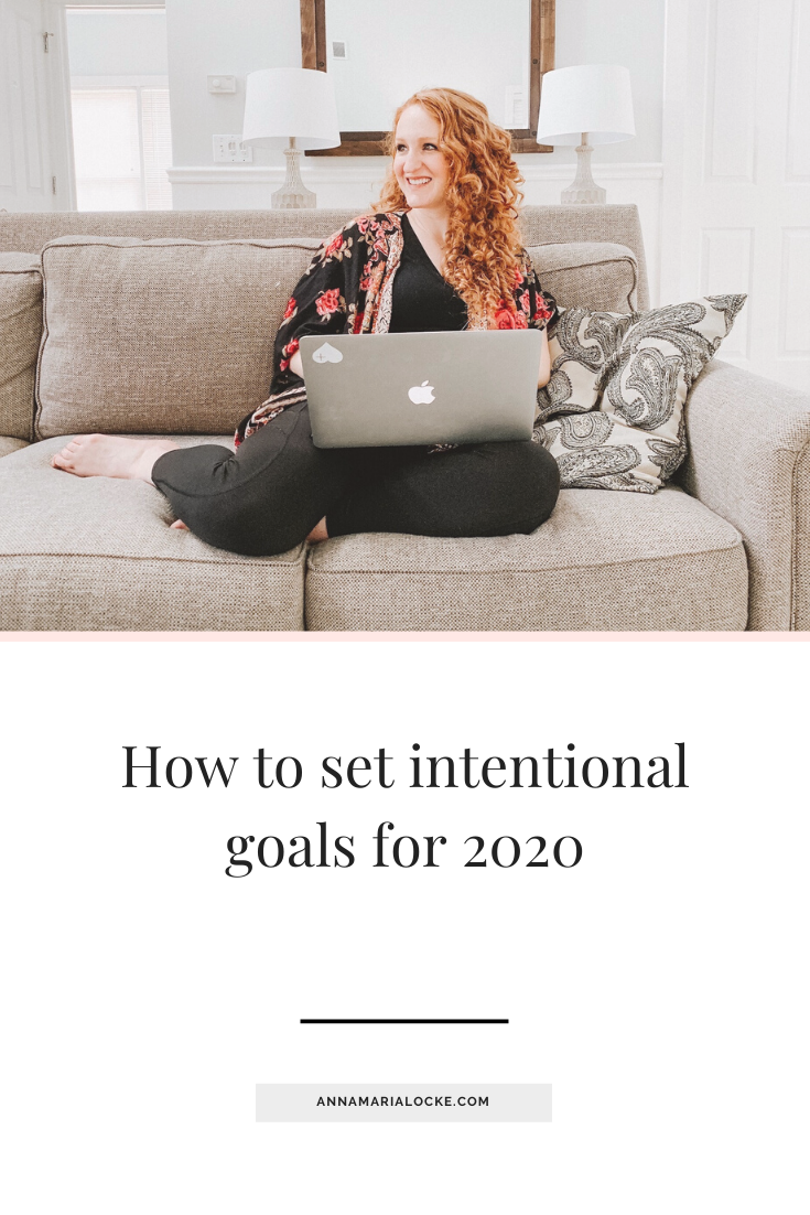 3 Steps To Setting Intentional Goals For 2020 Anna Maria Locke