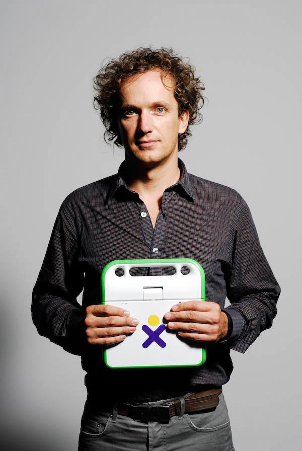 Yves Behar, designer du PC XO. Juin 2007.