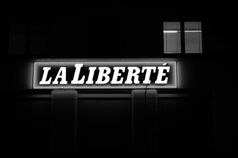 Rédaction de La Liberté, à Fribourg.