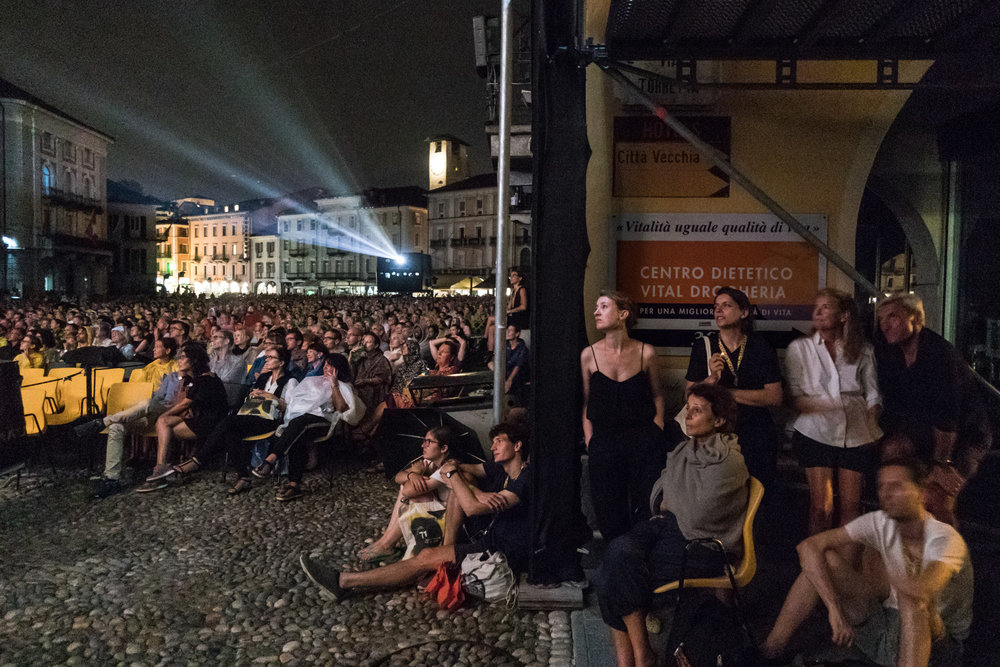 Projection de BlacKkKlansman de Spike Lee sur la Piazza Grande.