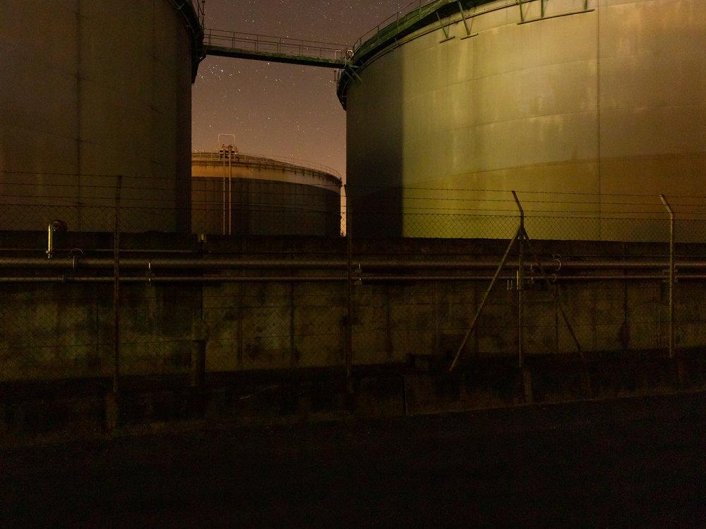 Cuves de la raffinerie de Collombey.