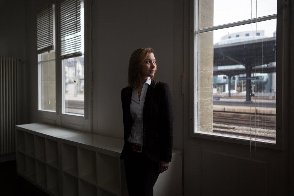 Johanna Gapany, vice-présidente des Jeunes libéraux-radicaux suisses. Février 2016.