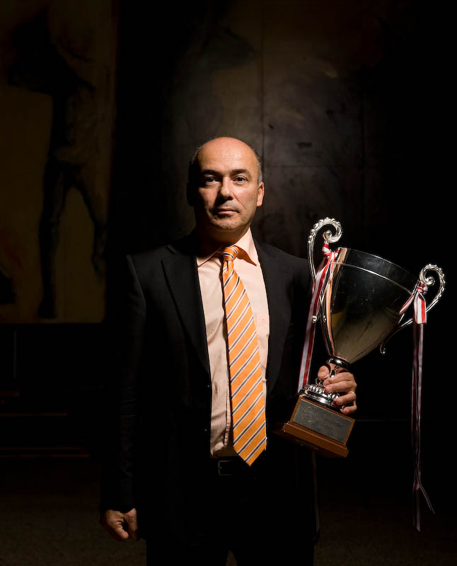 Le president du club de basket Fribourg-Olympic Philippe Kapsopoulos. Septembre 2008.