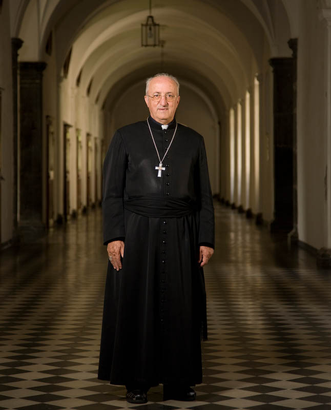Mgr Joseph Roduit, père-abbé de l'abbaye de Saint-Maurice. Septembre 2008.