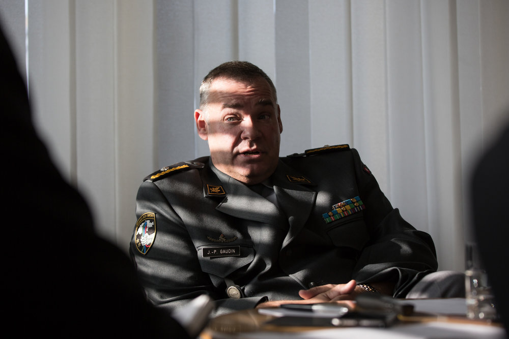 Le brigadier Jean-Philippe Gaudin, chef du renseignement militaire Suisse. Octobre 2015.