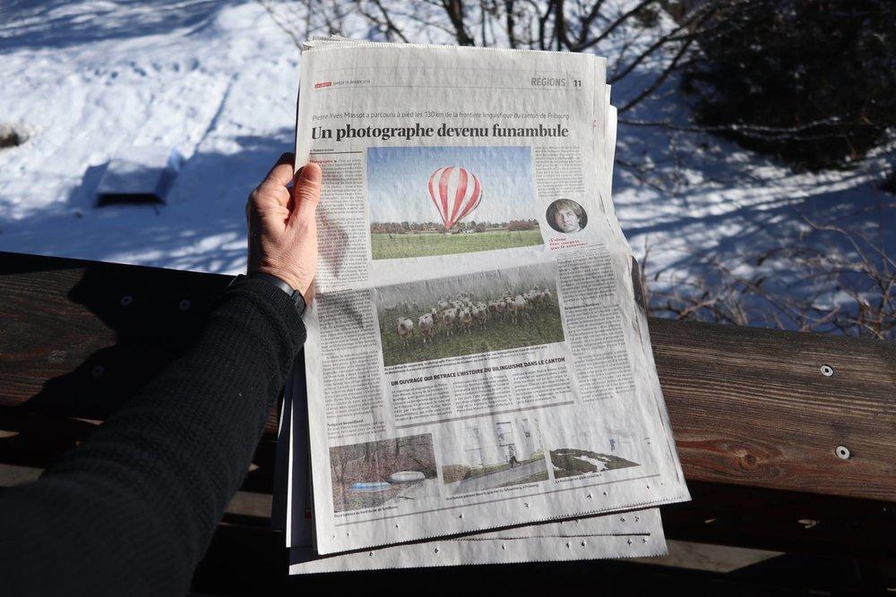 Production du livre sur la frontière linguistique dans le canton de Fribourg en Suisse, avec la série du Vully à la Wandflue, par le photographe Pierre-Yves Massot.