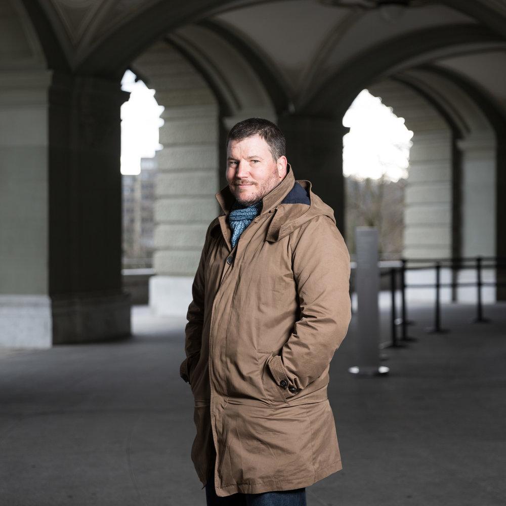 Le journaliste Stéphane Deleury. Mars 2019.