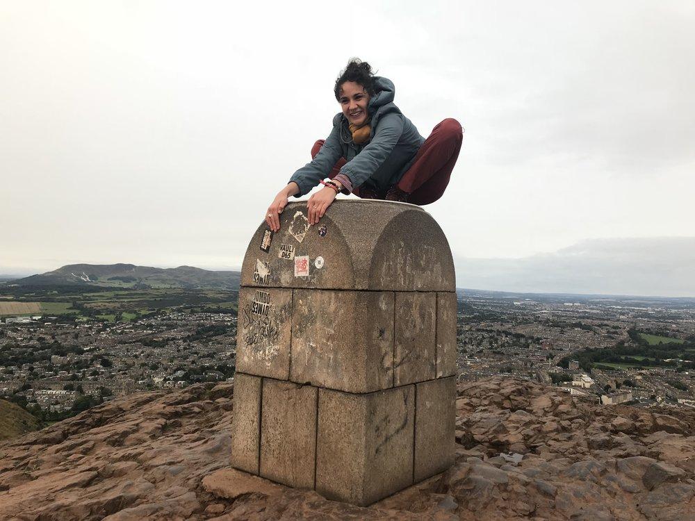 Sunrise hike to the top of Arthur's Seat in Edinburgh. -