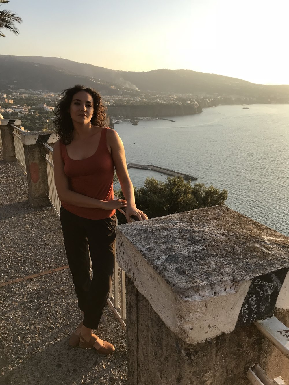 Pitstop on the way to Postiano for this truly beautiful sunset and view. -