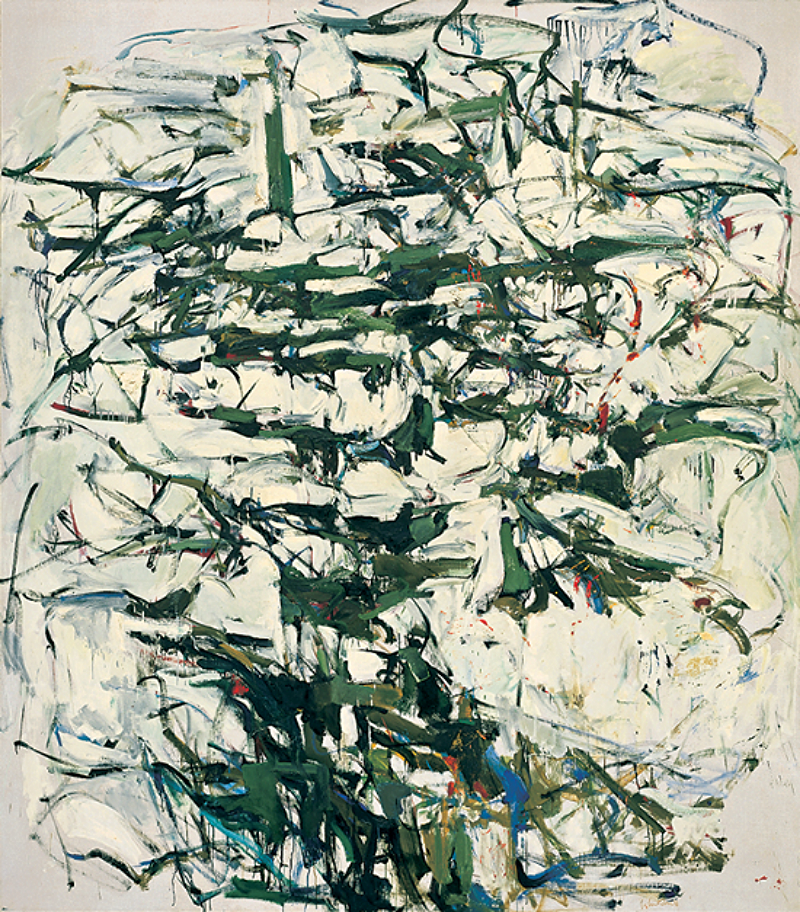Hemlock 1956. Oil on canvas.  91 x 80 inches.  Whitney Museum of American Art, New York