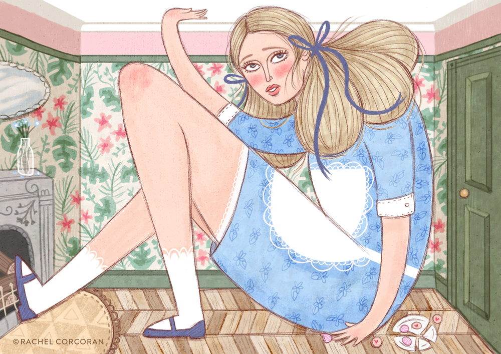 Alice in Wonderland - Childrens Book Illustration by Rachel Corcoran