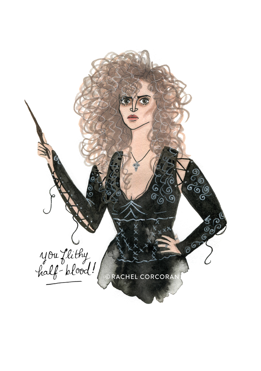 BELLATRIX LESTRANGE - Frightening Female series • Inktober 2016
