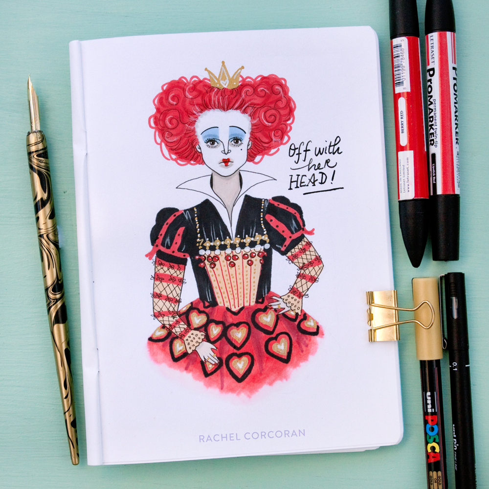 queen of hearts - Frightening Female series • Inktober 2016