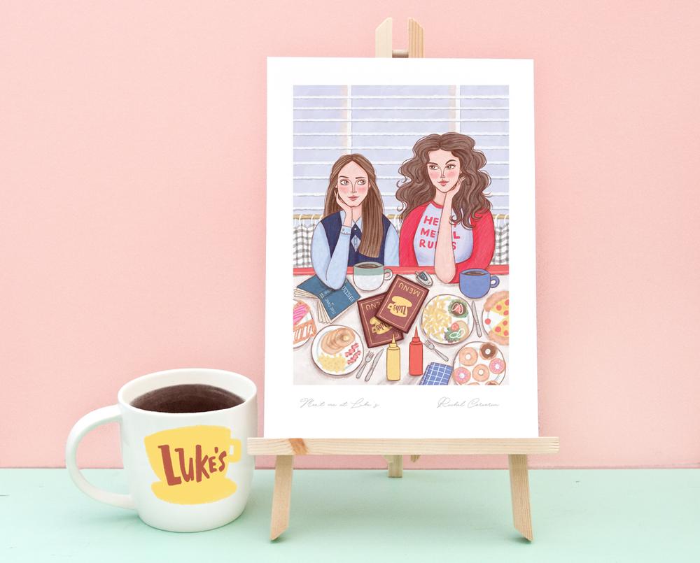 gilmore girls print by rachel corcoran