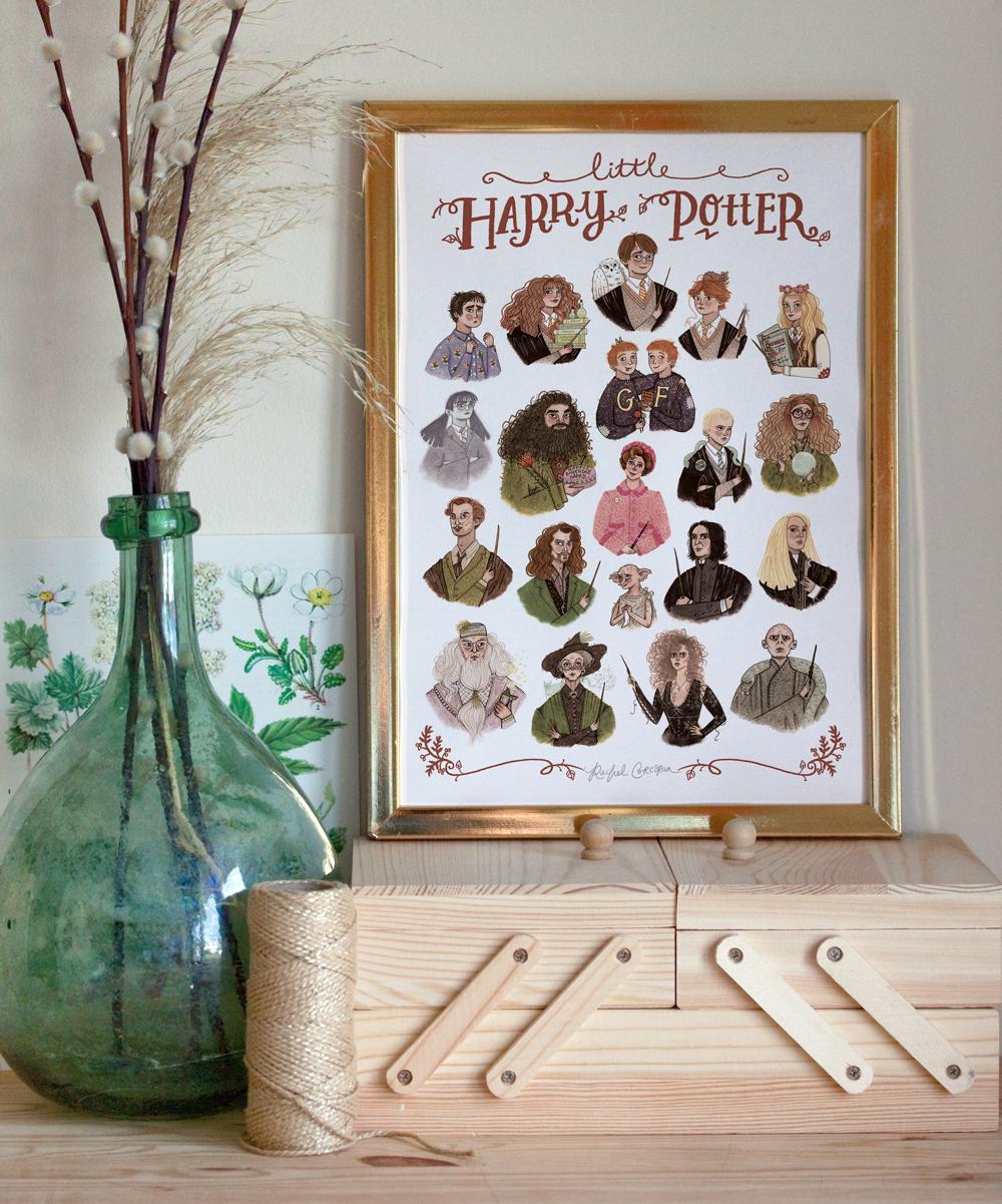 harry potter print by rachel corcoran
