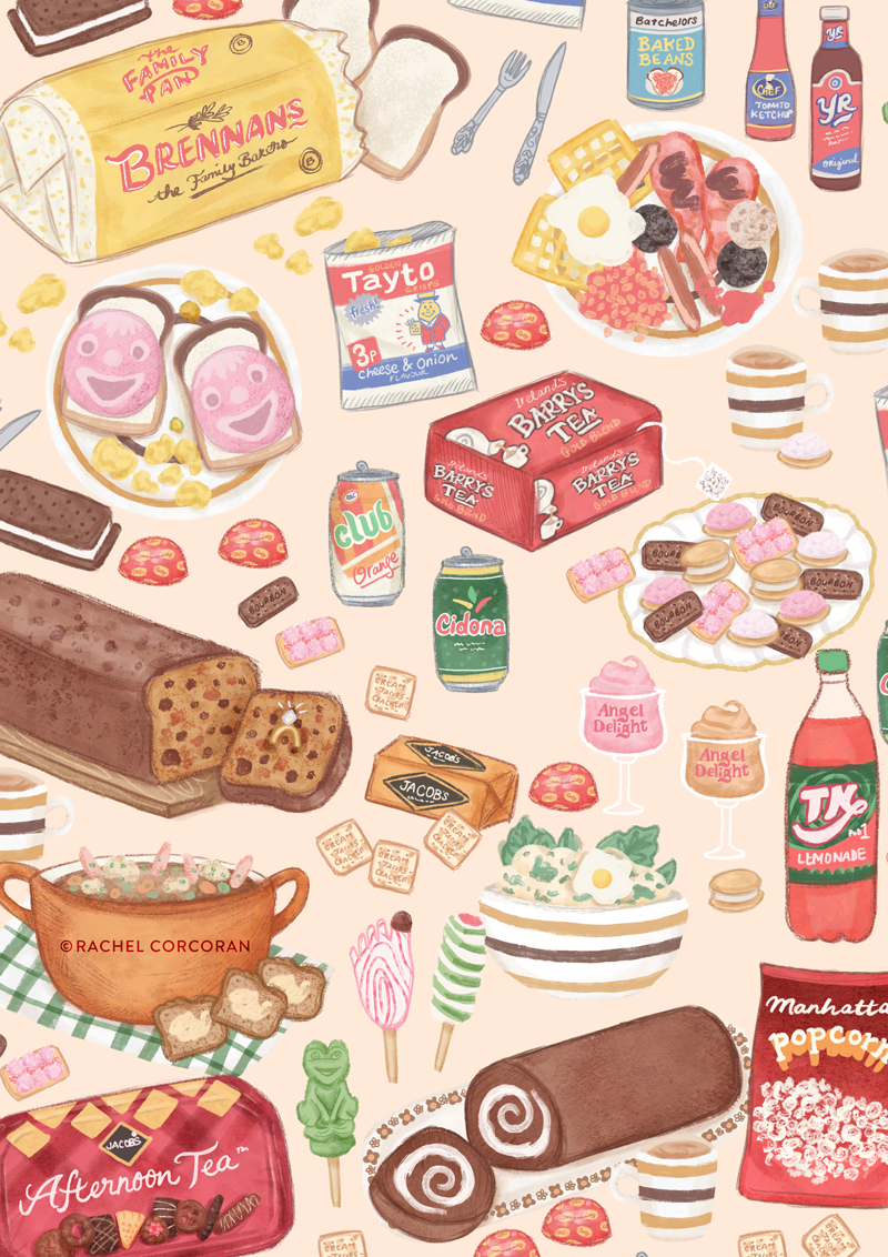 Back in Time For Tea illustration by Rachel Corcoran