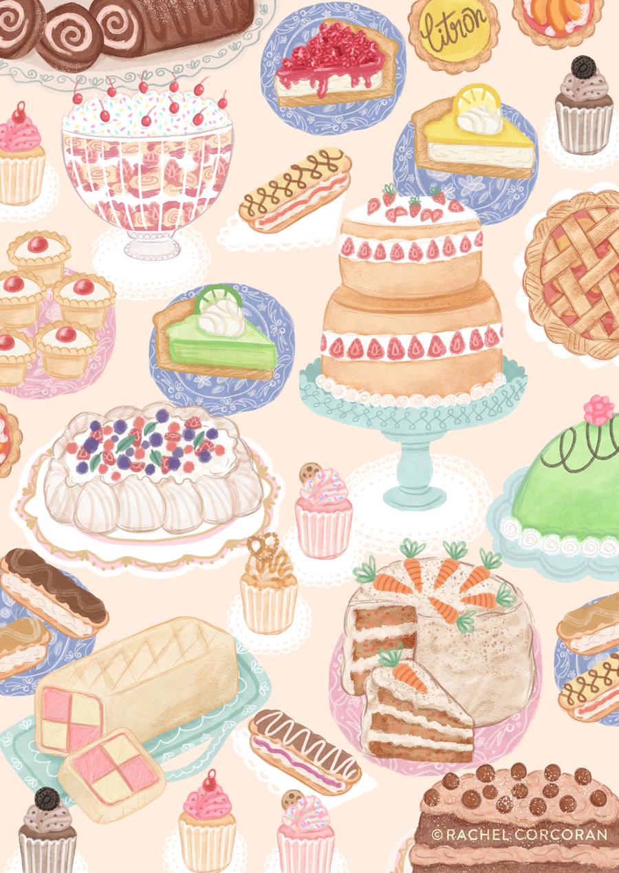 Sweet Treats illustration by Rachel Corcoran