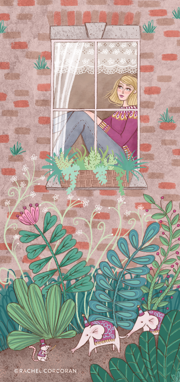 The Window illustration by Rachel Corcoran