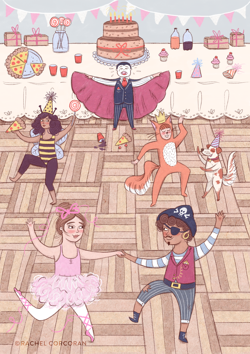 Costume Party illustration by Rachel Corcoran