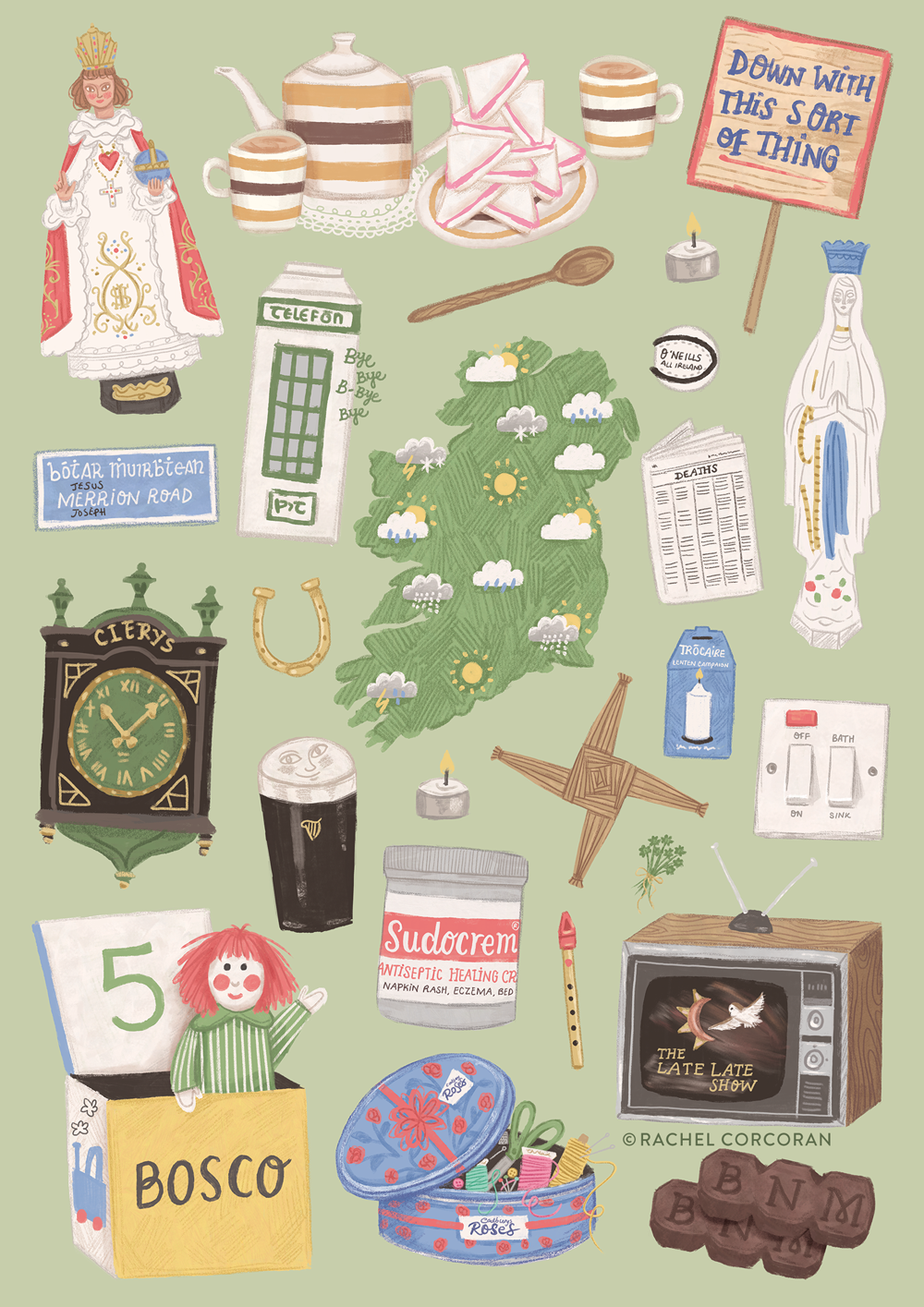 Home Sweet Home illustration by Rachel Corcoran