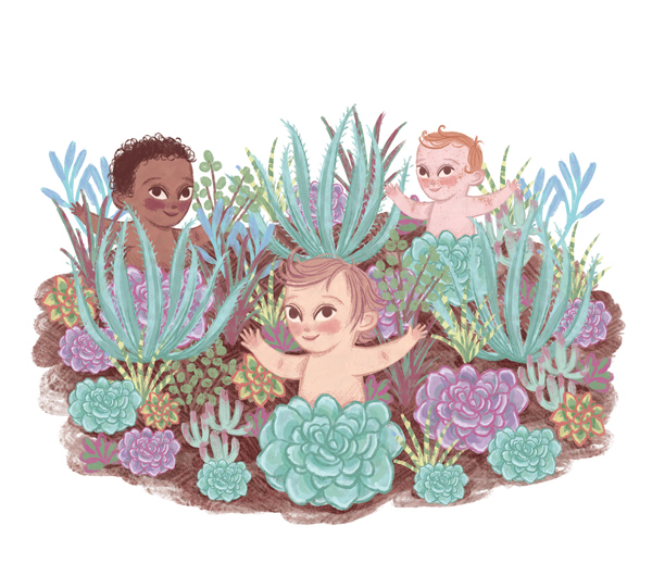 Hello Baby illustration by Rachel Corcoran