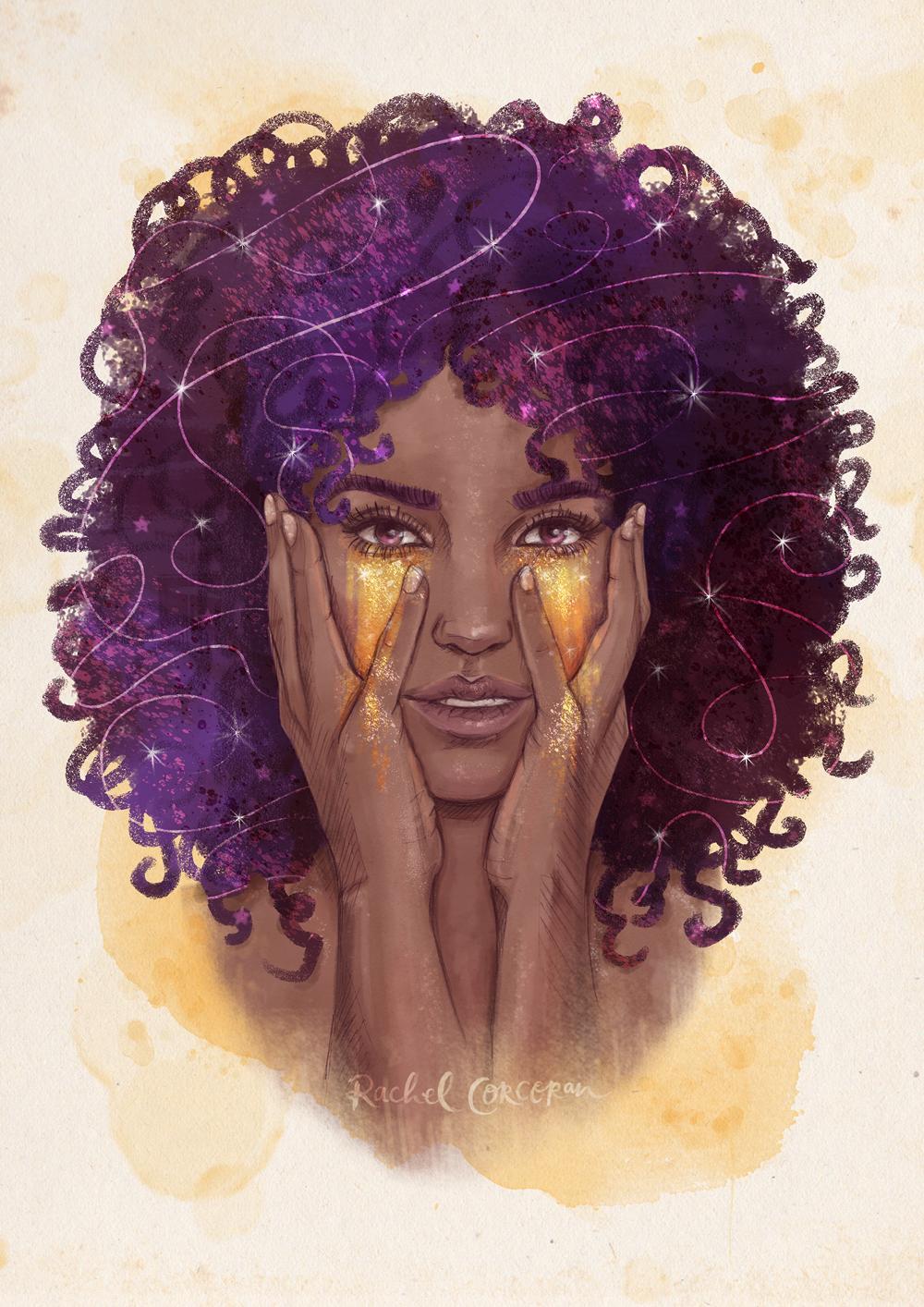 Stardust fashion illustration by Rachel Corcoran