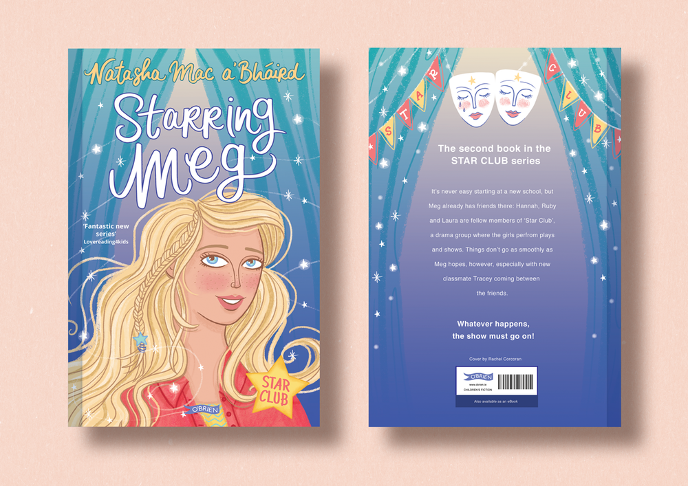 Starring Meg, cover illustration by Rachel Corcoran