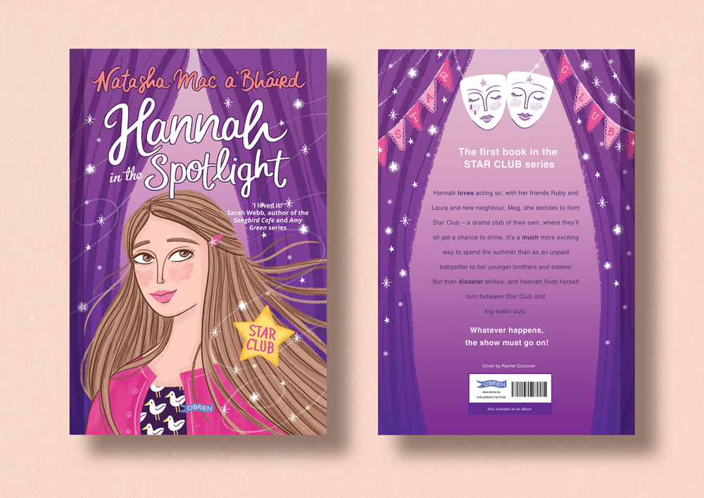 Hannah in The Spotlight, cover illustration by Rachel Corcoran