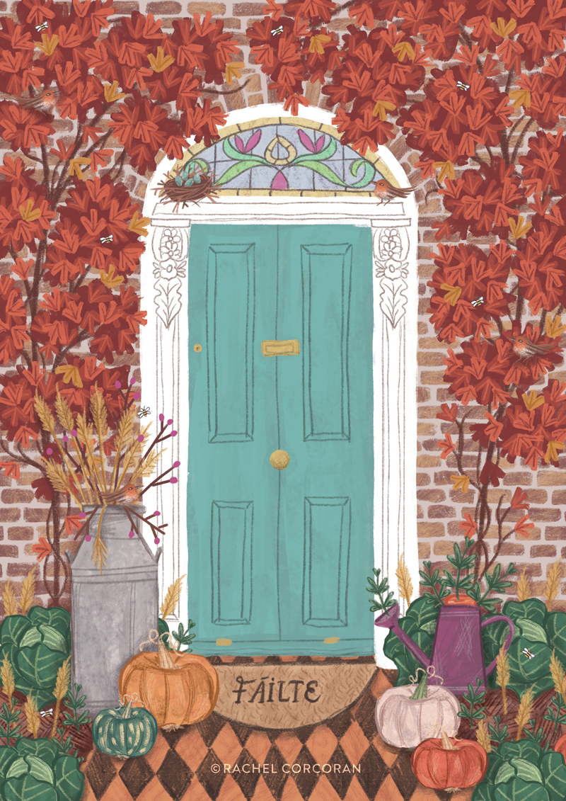 Dublin door illustration by Rachel Corcoran